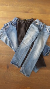 3 pair GAP  and 2 pair Old Navy Jeans, Size 12 Slim
