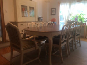 10 Piece Anthes-Baetz Dining Room Table and Sideboard Set-$1250