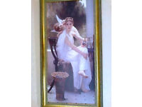 Large Framed Classical/Realism Giclee CANVAS Print -38 inches x 20 inches; Reproduction Bouguereau