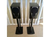 Mission MX-1 Speakers and Mission Stance Black Steel Speaker Stands