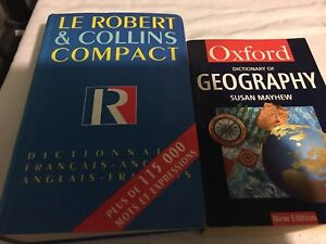 Books - Oxford geography dictionary & French