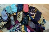 About 73 pure silk ties