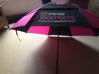 Ladies Ping black/pink golf umbrella