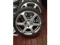 Fox 17inch alloys 4x108 ford Peugeot fitting
