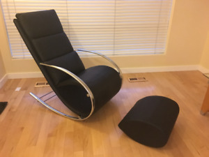 Leather rocker chair