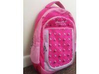 PINK SCHOOL BAG BACKPACK -LIKE NEW