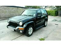 2004 JEEP CHEROKEE SPORT 2.5 CRD DIESEL IN BLACK LONG M.O.T EXCELLENT CONDITION & DRIVE NICE 4X4