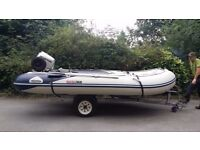 Honda HonWave 4 meter Inflatable, with 30hp engine + extra's