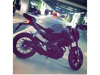 YAMAHA MT 125 ABS Full custom Akrapovic exhaust system £3700 ONO