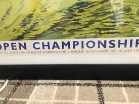 Open championship poster