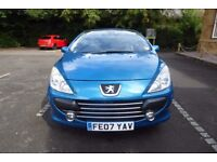 Peugeot 307cc. Convertible. . Priced to sell. Black leather seats. 2 Spare alloy wheels.