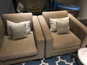 3 piece Van Gogh designs sofa and chairs