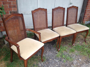 4 Antique Wooden Chairs