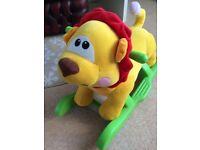 Baby lion rocker