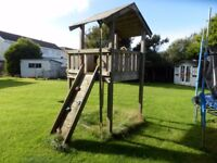 Wooden Jungle Gym castle & slide