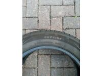 One used Rotalla 195/55R15 85H tyre for sale - very good condition