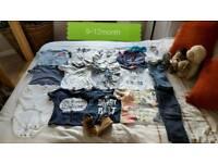 6-9 & 9-12 Month boys clothes bundle.