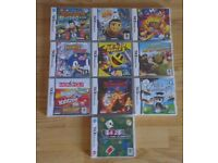 DS GAMES BUNDLE, 10 GAMES, CAN SPLIT, SEE DESCRIPTION FOR MORE INFO. BOXED AND C/W BOOKLETS, FROM £2