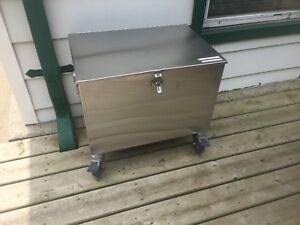 Stainless steel box on casters
