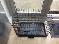Pet cage small, 2 door, size L58 H40 W34.