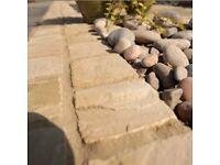 Sandstone paving setts, patio edging, cobble stones