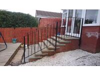 Stair railings, galvanized and powder coated