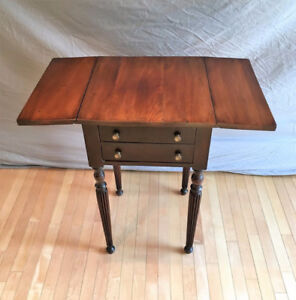 Mahogany Two Drawer, Drop-leaf Table, c.Early 1900's