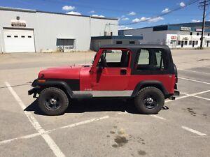 1995 jeep YJ $5,500.00 OBO