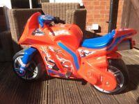 Spider-Man motorised motorbike