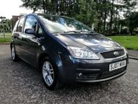2007..Ford Focus C-MAX ZETEC 1.6 e..NEW FULL MOT..F S H..NEW OIL+FILTER..NO ADVISORY..GREY..123K.