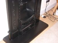 lovely cast iron fireplaces 2 off matt black.
