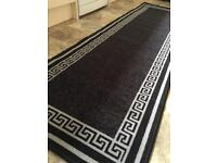 New Black & Silver Patterned Rug