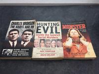 TRUE CRIME BOOKS X3