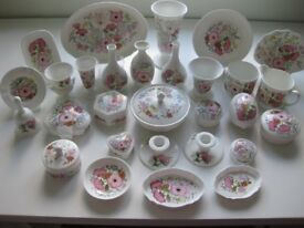 Wedgwood collection of Meadow-Sweet fine bone china ornaments