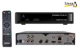 ZGEMMA STAR LC SINGLE TUNER CABLE TV RECEIVER BOX 12 MONTHS PLUG AND PLAY