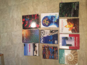 Pre Health textbooks (confederation college)