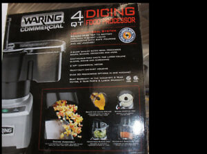 WARING 4.qt. Commercial food processor. used two days in show