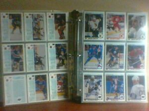 Cartes et articles de hockey de la LNH.