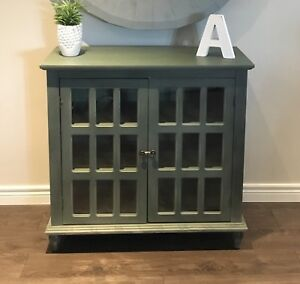 MOVING MUST GO BEFORE AUG 22ND - Green Accent Cabinet - Can Del