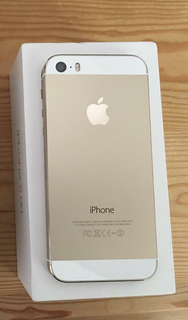 iPhone 5s Gold complete boxed excellent condition unlocked