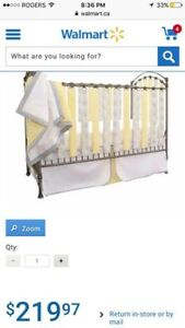Wonder Bumpers Crib set with blanket, skirt and teething guards
