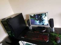 Gaming desktop PC with everything ready to go