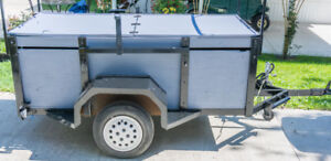 Heavy Duty enclosed utility trailer w/bike & kayak/canoe racks