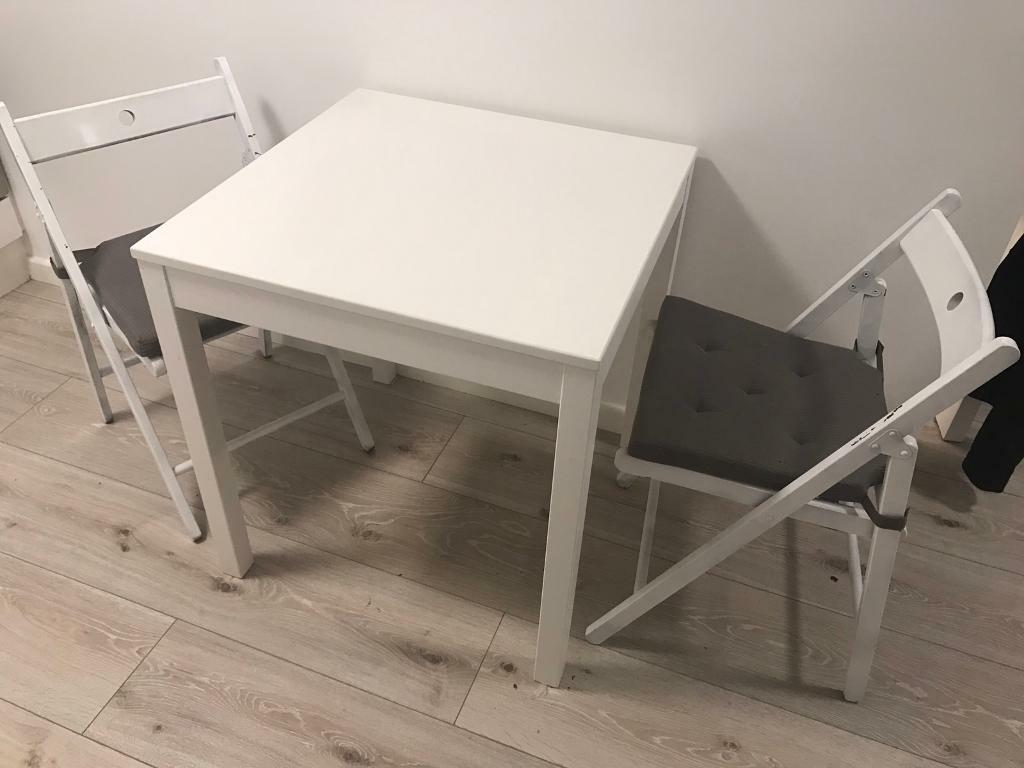 Ikea table and chairs x2 danhult and terje in for Table ikea 4 99
