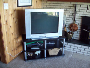 Large TV with TV Stand