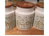 Vintage Tea , Coffee and Sugar jars Hornsea Pottery