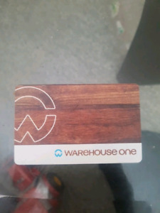 75 dollar warehouse one gift card