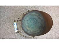 old copper coal scuttle
