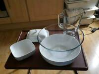 Various serving dishes
