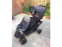 Graco double tandem buggy pushchair